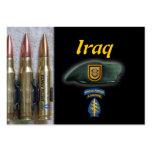 1ra tarjeta de comercio de Iraq de las fuerzas esp