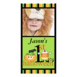 1ra tarjeta de la foto de Halloween del bebé Tarjeta Personal