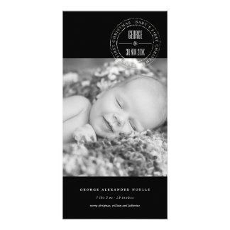 1ra tarjeta de la foto del navidad del círculo del tarjeta fotografica personalizada