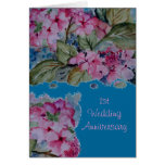 1ra tarjeta del aniversario de boda