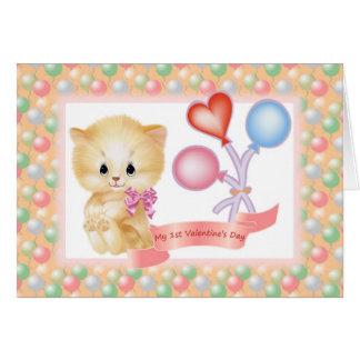 1ra tarjeta del el día de San Valentín de la niña