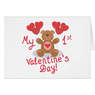 1ra tarjeta del el día de San Valentín del bebé