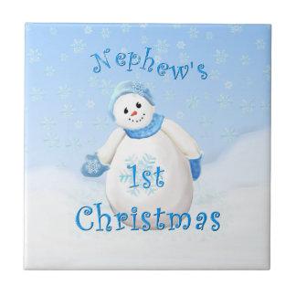 1ra teja del muñeco de nieve del navidad del sobri