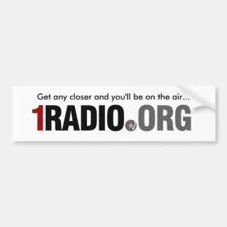 1Radio Bumper Sticker