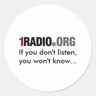 1Radio sticker