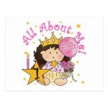 1ras camisetas del cumpleaños de princesa All Postal