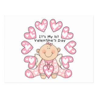1ras camisetas del el día de San Valentín del chic Tarjetas Postales
