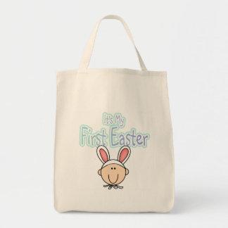 1ras camisetas y regalos de Pascua del conejito Bolsa Tela Para La Compra