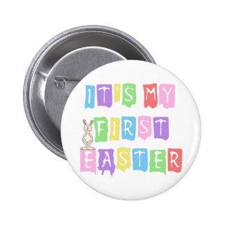 1ras camisetas y regalos de Pascua del texto fresc Pins