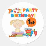1ras camisetas y regalos del cumpleaños de la fies etiquetas