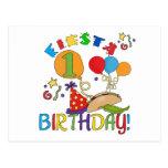 1ras camisetas y regalos del cumpleaños de la fies postales