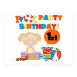 1ras camisetas y regalos del cumpleaños de la fies tarjetas postales