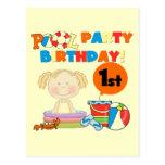 1ras camisetas y regalos del cumpleaños de la fies postal