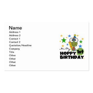 1ras camisetas y regalos del cumpleaños de la rana tarjetas de visita