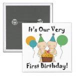 1ras camisetas y regalos del cumpleaños de los beb pin