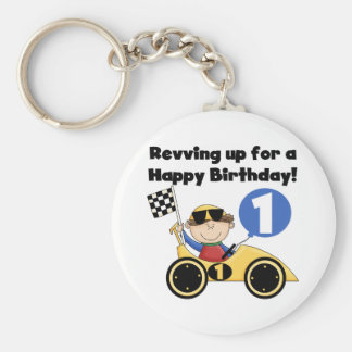 1ras camisetas y regalos del cumpleaños del coche  llavero redondo tipo pin