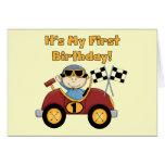 1ras camisetas y regalos del cumpleaños del coche  felicitación