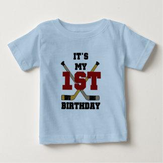 1ras camisetas y regalos del cumpleaños del hockey playera