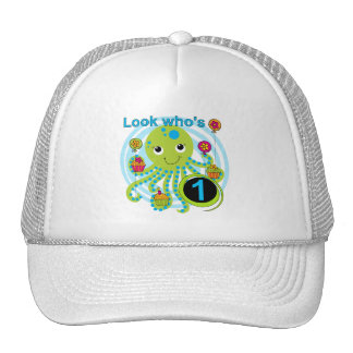 1ras camisetas y regalos del cumpleaños del pulpo gorras