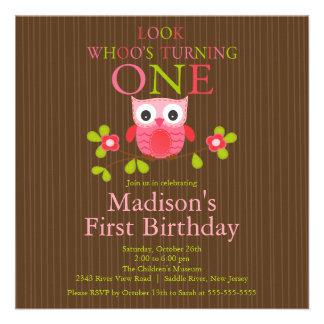 1ras invitaciones de la fiesta de cumpleaños del b comunicado personalizado