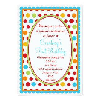 """1ras invitaciones del cumpleaños de los pequeños invitación 5"""" x 7"""""""
