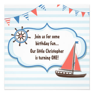 1ras invitaciones del cumpleaños del velero náutic