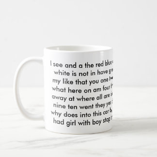 1ras palabras de la vista del profesor del grado d tazas de café