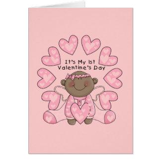 1ras tarjetas del día de San Valentín del chica -