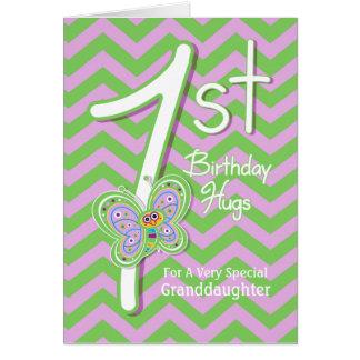 1ros abrazos de la mariposa del cumpleaños de la n felicitacion