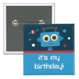 1ros botones del personalizado del cumpleaños del