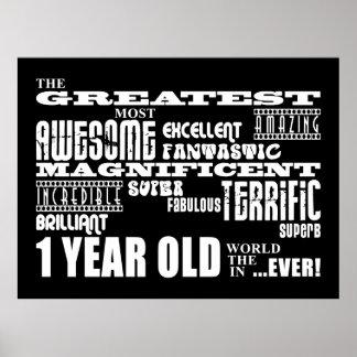 1ros cumpleaños modernos frescos: El de 1 año más  Poster