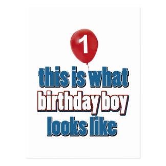 1ros diseños años del cumpleaños postal