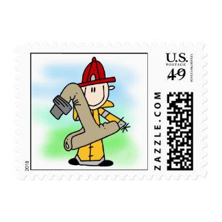 1ros sellos del cumpleaños del bombero