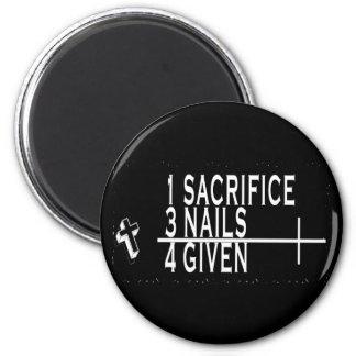 1SACRIFICE + 3 CLAVOS = 4GIVEN CRISTIANOS JESÚS IMAN DE NEVERA
