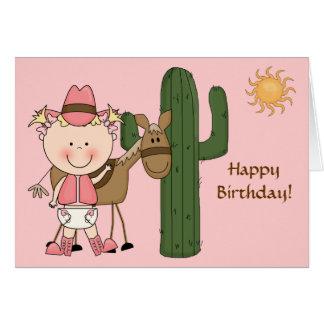 1st 2nd 3rd Birthday Toddler Girls Card