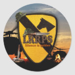 1st 7th cavalry air cav army LRRPS patch Classic Round Sticker