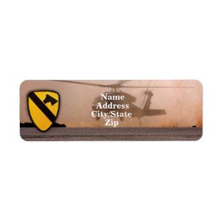 1st 7th cavalry air cav fort hood veterans vets custom return address labels