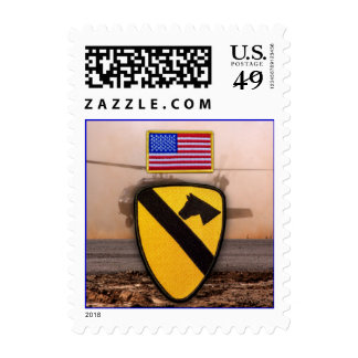 1st 7th cavalry air cav fort hood vets patch postage stamp