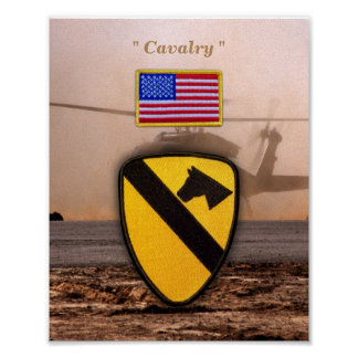 1st 7th Cavalry Air Cav Vetereans Vets Patch Posters