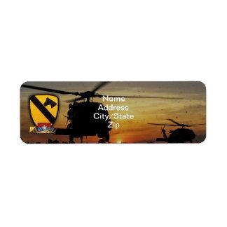 1st 7th cavalry air cav vietnam nam war label
