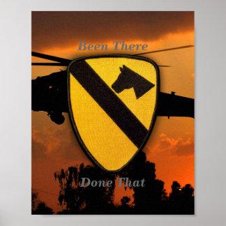 1st 7th Cavalry Air Cav Vietnam Nam War Patch Poster