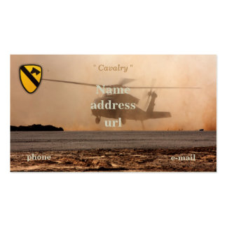 1st 7th Cavalry Division Air Cav vets patch Double-Sided Standard Business Cards (Pack Of 100)