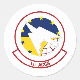 1st ACCS Round Stickers