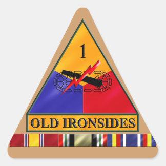 1st AD Iraq Veteran Triangle Sticker