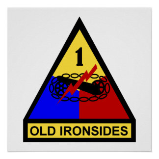 1st AD Old Ironsides Patch Posters