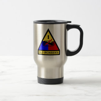 1st AD Old Ironsides Patch Travel Mug