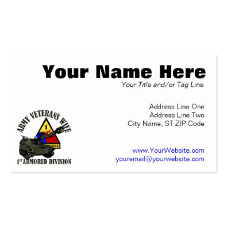1st AD Proud Wife Business Card