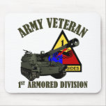 1st AD Vet - Green Howitzer Mouse Pad