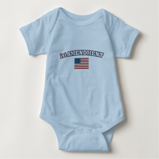 1st Amendment American Flag Baby Bodysuit
