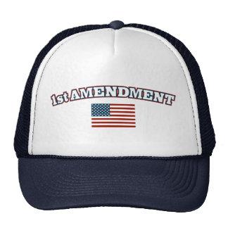 1st Amendment American Flag Trucker Hat